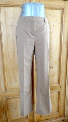 Hallhuber Pantalón de color caqui marrón arena tejido mezclado