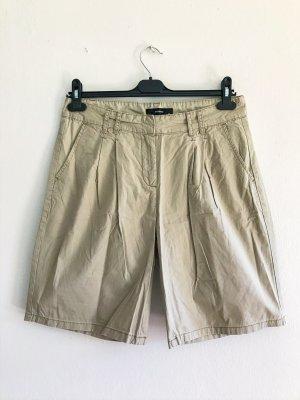 Hallhuber Stoffhose, kurze Stoffhose, Bermuda, Short, beige, Gr. 38 / M