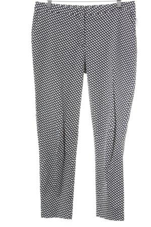 Hallhuber Stoffhose schwarz-weiß Street-Fashion-Look