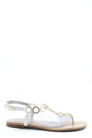 Hallhuber Sandały plażowe biały-złoto W stylu casual
