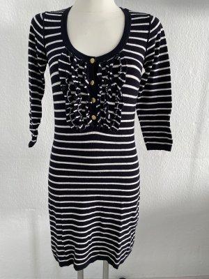 Hallhuber Vestido de tela de sudadera azul oscuro-blanco