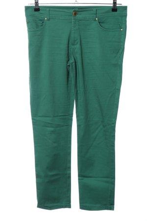 Hallhuber Stretchhose grün Casual-Look