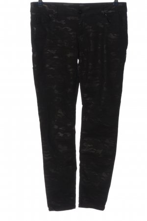 Hallhuber Stretch Trousers black camouflage pattern casual look