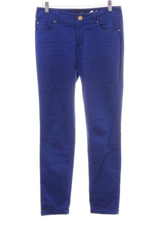 Hallhuber Stretchhose blau Casual-Look