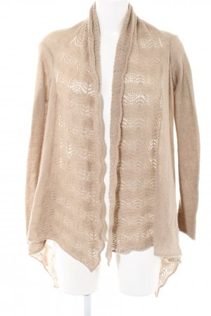 Hallhuber Strick Cardigan creme grafisches Muster Casual-Look