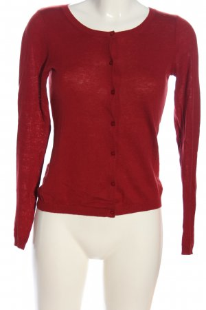 Hallhuber Strick Cardigan rot Casual-Look