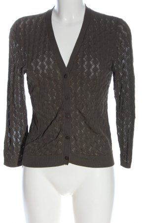 Hallhuber Knitted Cardigan brown allover print casual look