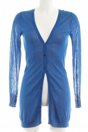 Hallhuber Strickjacke blau Casual-Look