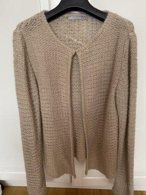 Hallhuber Veste en tricot crème-doré
