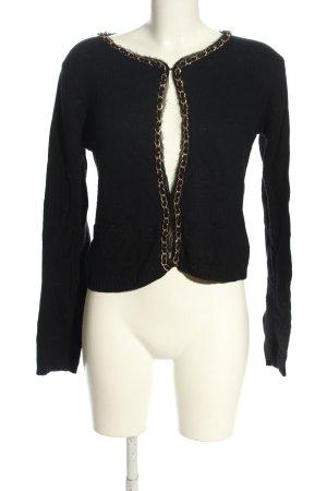 Hallhuber Strickjacke schwarz Elegant