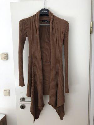 Hallhuber basic Płaszcz z dzianiny brązowy