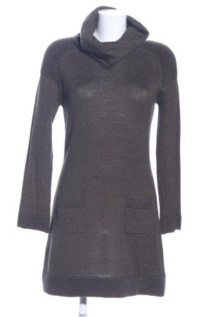 Hallhuber Abito di maglia grigio chiaro stile casual