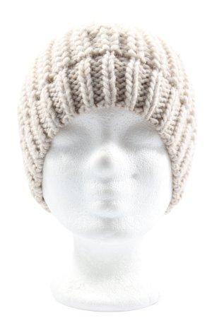 Hallhuber Sombrero de punto blanco puro look casual