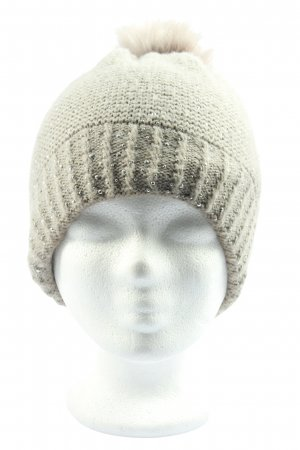 Hallhuber Knitted Hat cream-gold-colored casual look