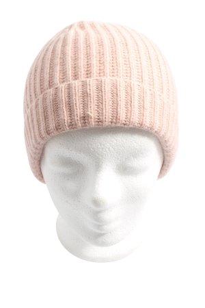 Hallhuber Cappello a maglia color carne stile casual
