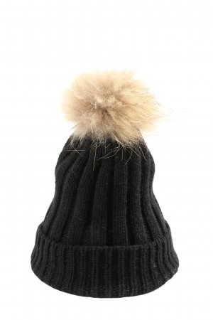 Hallhuber Knitted Hat black-natural white casual look