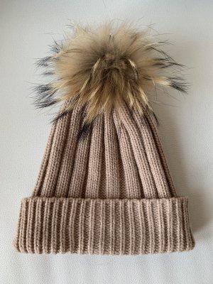 Hallhuber Cappello a maglia color carne-beige