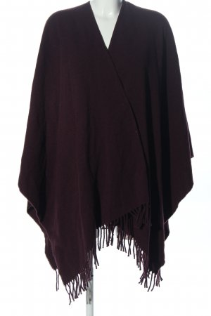 Hallhuber Knitted Poncho lilac casual look