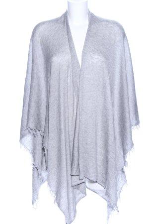 Hallhuber Poncho en tricot gris clair moucheté style décontracté