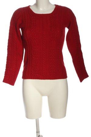 Hallhuber Jersey de punto rojo punto trenzado look casual