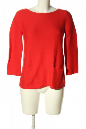 Hallhuber Strickpullover rot Casual-Look