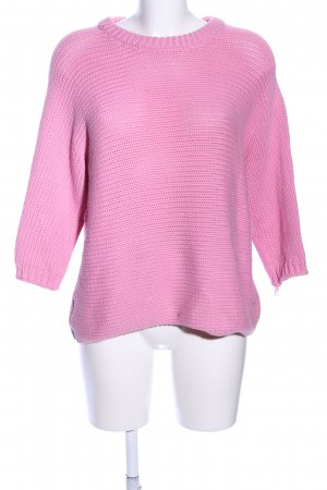 Hallhuber Strickpullover pink Casual-Look