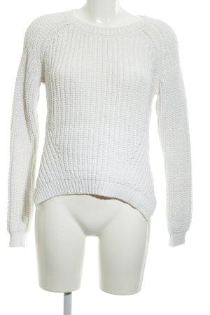 Hallhuber Sweter z dzianiny biały W stylu casual