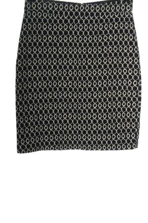 Hallhuber Strickrock schwarz-weiß abstraktes Muster Casual-Look