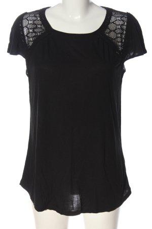 Hallhuber Koszulka z dzianiny czarny W stylu casual