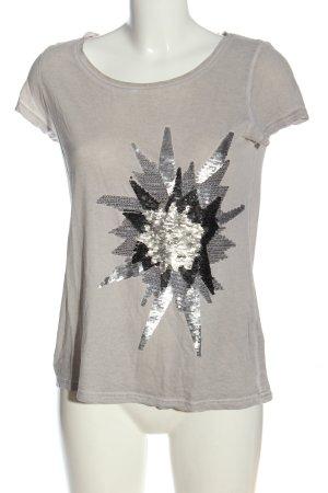 Hallhuber Koszulka z dzianiny jasnoszary-czarny W stylu casual