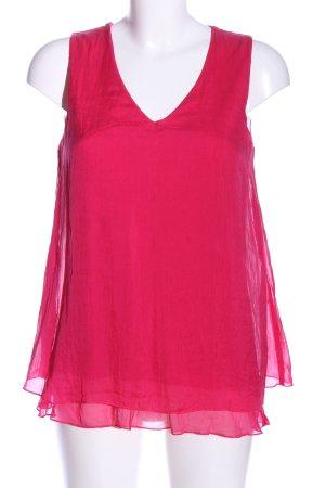 Hallhuber Top de seda rosa look casual
