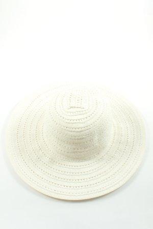 Hallhuber Chapeau de paille blanc style décontracté