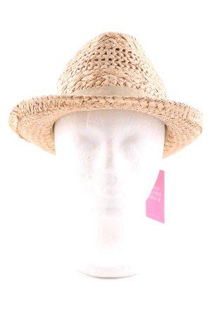 Hallhuber Cappello di paglia bianco sporco stile casual