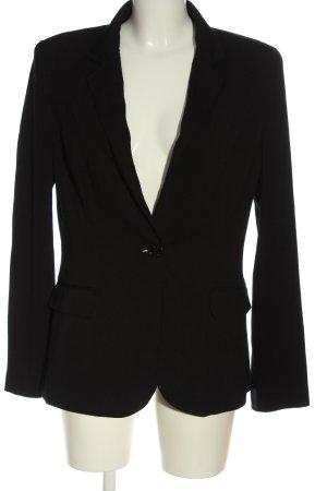 Hallhuber Blazer de tela de sudadera negro estilo «business»