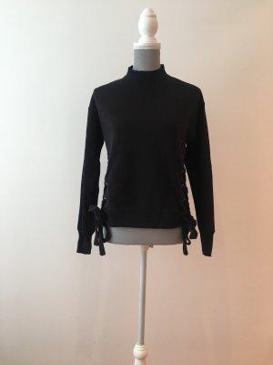 Hallhuber Sweater mit Bindedetails 1x getragen