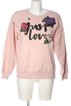 Hallhuber Sweatshirt creme Schriftzug gedruckt Casual-Look