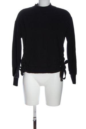Hallhuber Sweatshirt schwarz Casual-Look