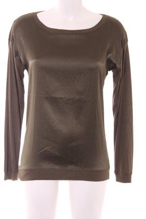 Hallhuber Sweatshirt grüngrau Casual-Look