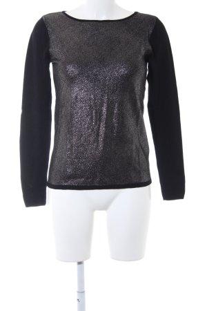 Hallhuber Sweatshirt schwarz-silberfarben Casual-Look
