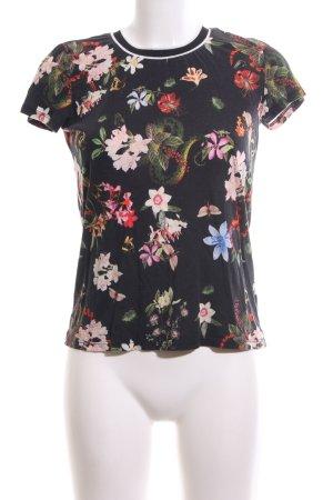 Hallhuber T-Shirt Allover-Druck Casual-Look