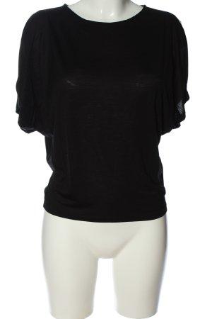 Hallhuber T-Shirt schwarz meliert Elegant