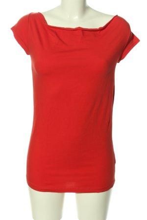 Hallhuber T-shirt czerwony W stylu casual