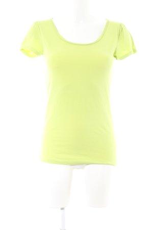 Hallhuber T-Shirt blassgelb Casual-Look