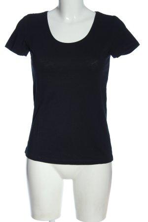 Hallhuber T-Shirt blau Casual-Look