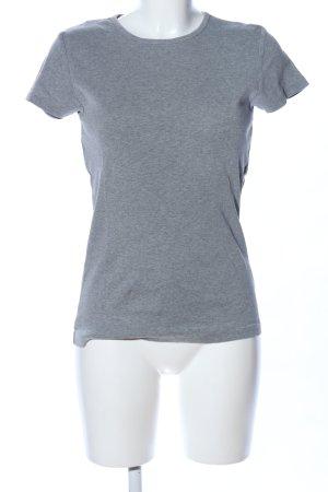 Hallhuber T-Shirt hellgrau meliert Casual-Look
