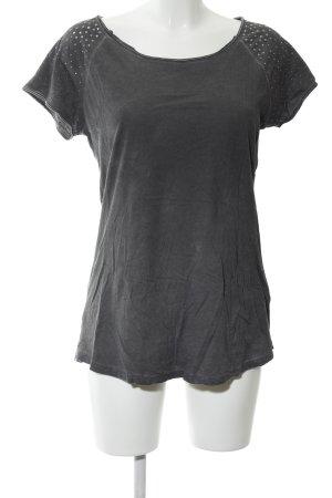 Hallhuber Camiseta gris claro look casual