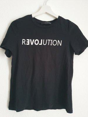 Hallhuber Camiseta blanco-negro