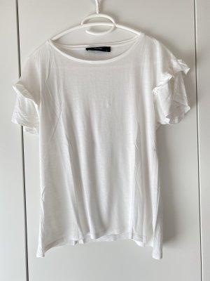 Hallhuber T-Shirt mit Rüschen