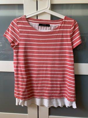 Hallhuber T-Shirt salmon-natural white