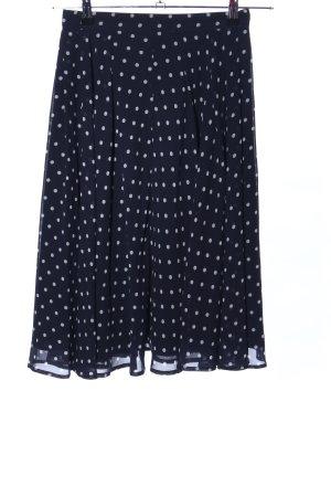 Hallhuber Falda de tafetán negro-blanco look casual